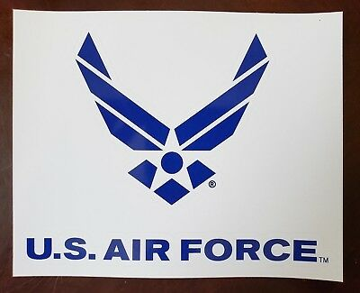 Air Force USAF Car Auto Motorcycle Alloy Body Emblem Sticker 2X Blue 3D U.S
