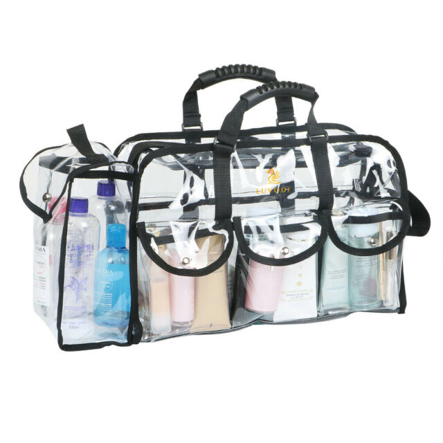 Transpa Makeup Bag Clear Cosmetic Bags With 6 Pockets And 1 Side Pocket