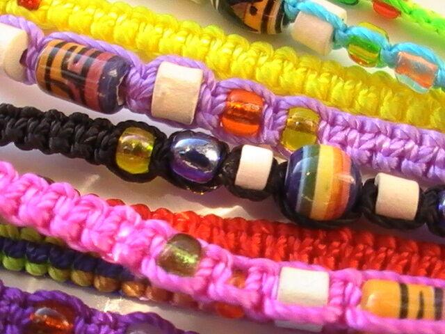 Large Bag of Brand New Multicolored Handmade Peruvian Friendship Bracelets