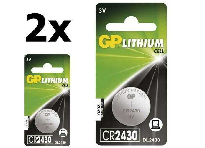 UK BS299-2x GP CR2430 lithium button cell battery 2 Pieces