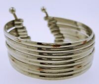 Silver Bracelet With Horizontal Lines By Chuns, Sz. 6.25inches