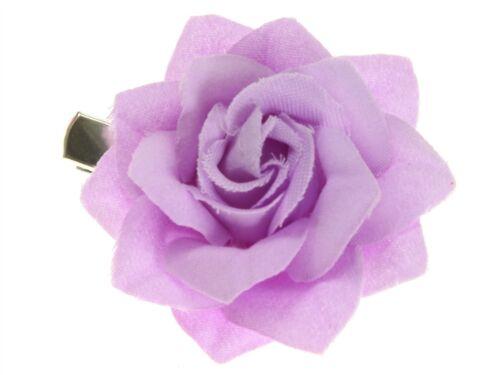 Lilac Small Rose Beak Hair Clip Slide Hair Accessories UK