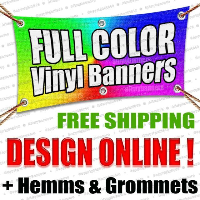 2/' x 8/' Full Color Custom Banner 13oz Vinyl Same Day Shipping