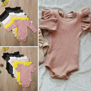 Newborn-Baby-Girl-Cotton-Tops-Romper-Jumpsuit-Bodysuit-Comfy-Outfits-Clothes-USA