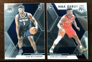 Lot-2-2019-20-Mosaic-Zion-Williamson-RC-Base-amp-NBA-Debut-Pelicans-PSA