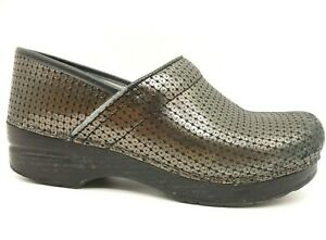 Dansko-Iridescent-Leather-Casual-Slip-On-Comfort-Clogs-Shoes-Womens-38-7-5-8