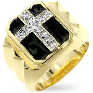 18K W GOLD EP .50CT MENS DIAMOND SIMULATED RING size 8-15 you choose