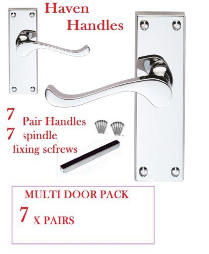 MULTI PACK X7CHROME Lever Door HandlesModern /'Scroll/' Design Door Handles