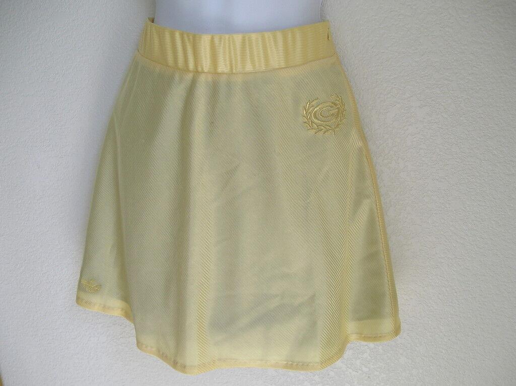 RAREAdidas ORIGINALS CARLO GRUBER 68 tennis Casual gold dress SkirtWomens sz S
