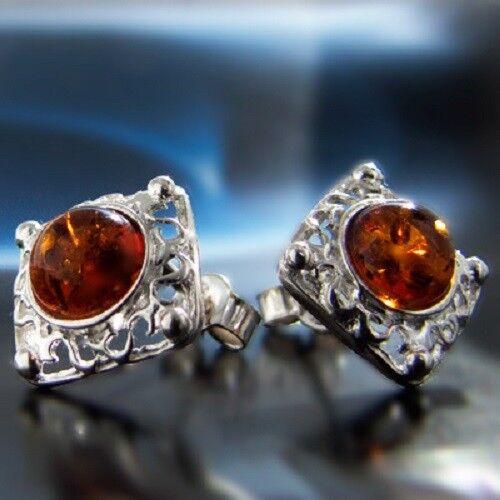 Bernstein Silber 925 Ohrringe Damen Schmuck Sterlingsilber S144