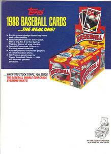 1988 Topps Baseball Cards Ad Don Mattingly Yankees Ebay