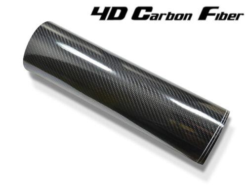 152 cm x 18 Meter hochglänzend mit Luftkanäle 4D struktur 5D Carbon Folie
