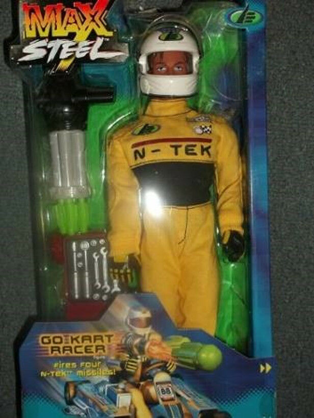 Max steel mattel go kart  voituret racer 12  action figure doll voiture  en stock