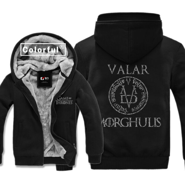 Game of Thrones Valar Morghulis Winter Coat Sweater Hoodies Warm Plus Tops New