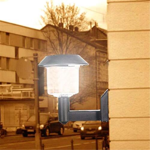 Outdoor Garden Solar Powered Led Door Fence Wall Lights Light Lantern Black FT