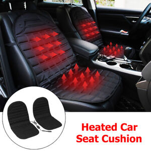 2x-12V-Thickening-Car-Seat-Pad-Cushion-Cover-Heating-Heater-Warmer-Heated-Winter