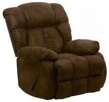Laredo Chaise Rocker Recliner in Tobacco Micro Denier Suede by Catnapper - 4609