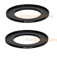 4 Pack Sensei 58mm Lens to 82mm Filter Step-Up Ring