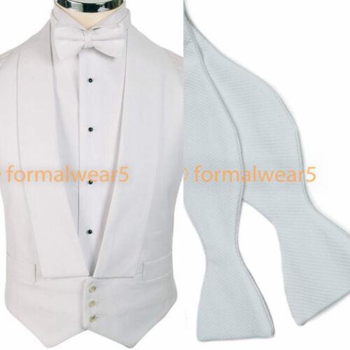 MEN/'S WHITE TIE MARCELLA DRESS BACKLESS EVENING WAISTCOAT VEST