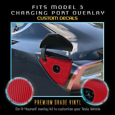 For Tesla Model 3 Charging Dock Port Vinyl Wrap Overlay ...