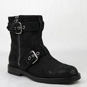 2a23bc2ebcc Details about New Gucci Men's Black Suede Sella Ankle Biker Boots 6.5G/US 7  368430 CEG00 1000