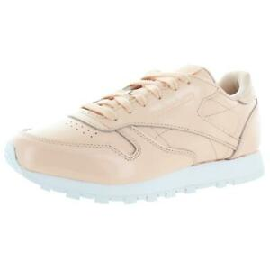 Reebok Womens Classic Leather Patent Classic Casual Sneakers Shoes BHFO 8002