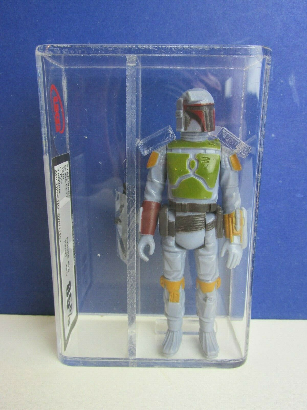 Vintage star wars BOBA FETT ACTION FIGURE esb TAIWAN 1979 85% UKG not AFA kenner