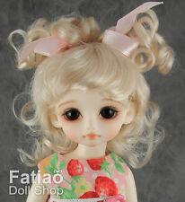 "Blonde Mohair Doll Wig Dollfie Yo-SD 1/6 BJD 6-7"""