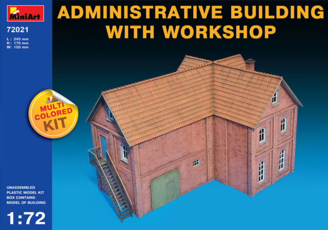 MiniArt 1/72 72021 Administrative Building with Workshop (Multi Colored Kit)