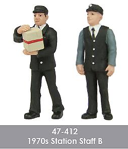 Scenecraft-47-412-1970s-Station-Staff-Figures-Pack-B-2PK-O-Gauge