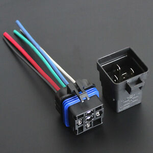 Car Truck 12V 40A SPDT Relay Socket Plug 5Pin 5 Wire Waterproof Seal