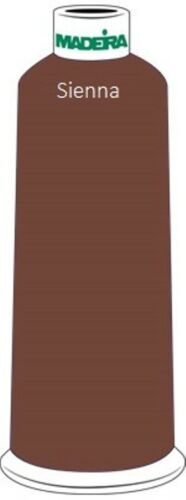 New Madeira Rayon Embroidery Thread 5500yd #40 Cone Color 1058 Sienna Brown