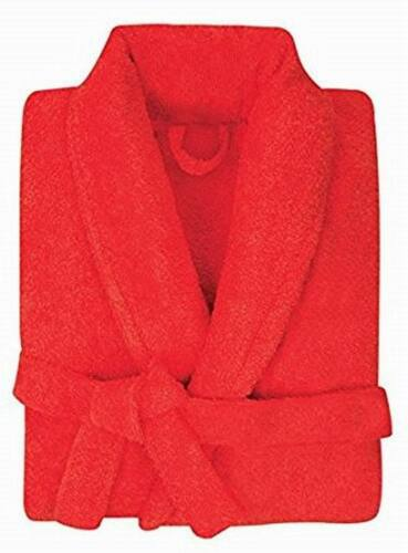 Mens Ladies Egyptian Cotton 500GSM Terry Towelling Shawl Collar  Bathrobe