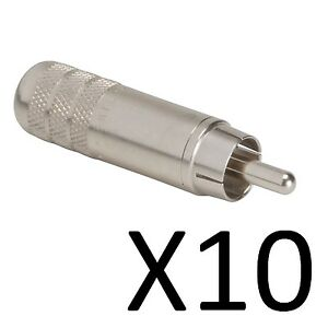 Shielded Solder Type Switchcraft 3502A Long Body RCA Male Cable End 25 Pack