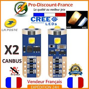 2-Ampoules-LED-CREE-T10-W5W-Blanc-Xenon-Canbus-Anti-Erreur-Ampoule-Veilleuse