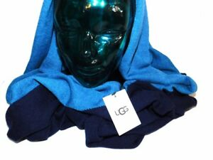 NEW-WOMENS-O-S-UGG-1015653-NAVY-MULTI-2-TONED-INFINITY-FINE-KNIT-SCARF-SNOOD-95