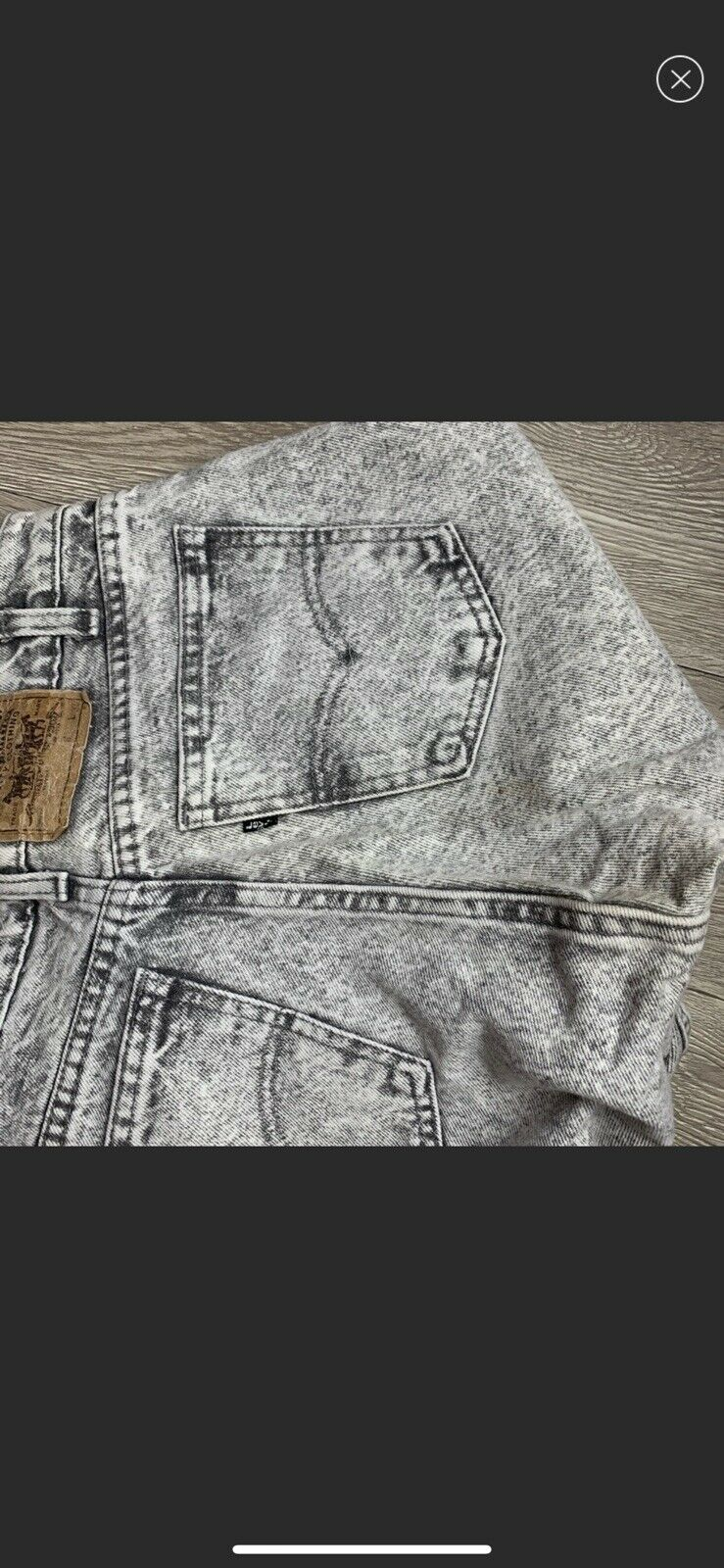 vintage high rise levis made in USA Gray - image 11