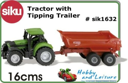 SIKU Modèle 1632 Tracteur Avec Halfpipe Remorque Basculante 1632 1:87 environ Adj.
