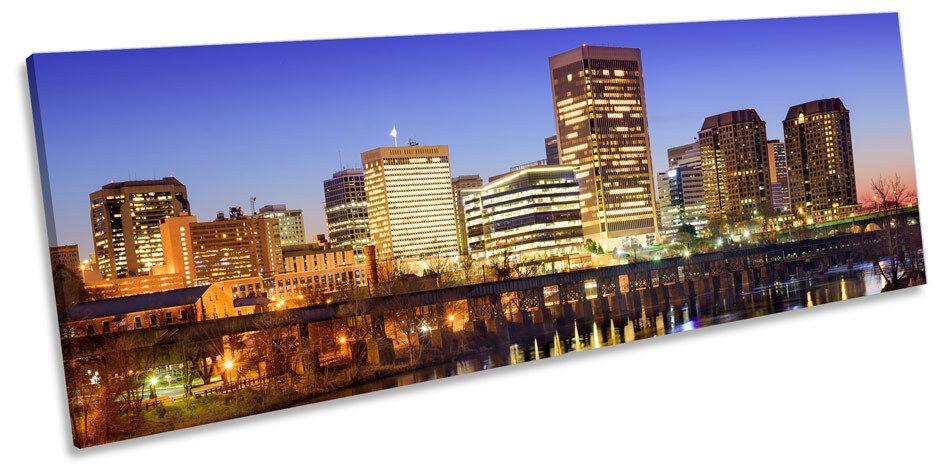Richmond City Virginia Virginia Virginia Skyline CANVAS WALL ART Panorama Framed Print 847d07