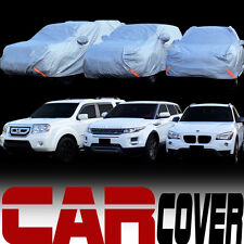 4 Layer Universal Water Proof 4600mm SUV Car Cover+Mirror Pocket & Warranty SA1