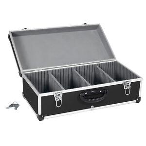 CD Koffer Alukoffer Werkzeugkoffer Aufbewahrungsbox schwarz 80 CD Schlüssel