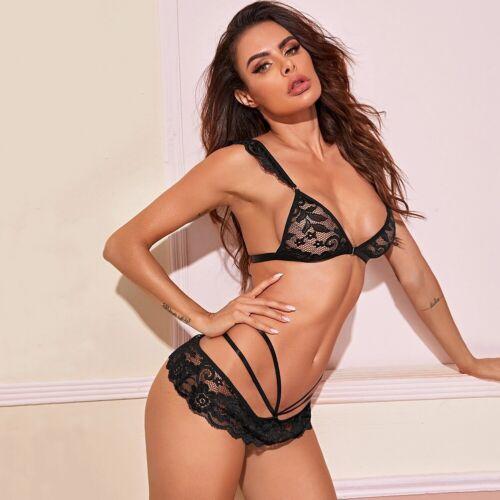 Details about  /Sexy Lingerie Bra+G-string Thong Bikini Babydoll Sleepwear Underwear Nightwear