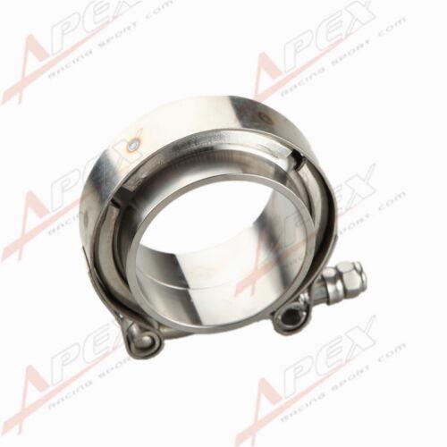 "2/"" V-Band Vband Clamp CNC Stainless Steel Flange Flanges Kit Turbo"
