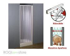 Cabina BOX DOCCIA PVC in Kit riducibile a un lato apertura LATERALE a soffietto