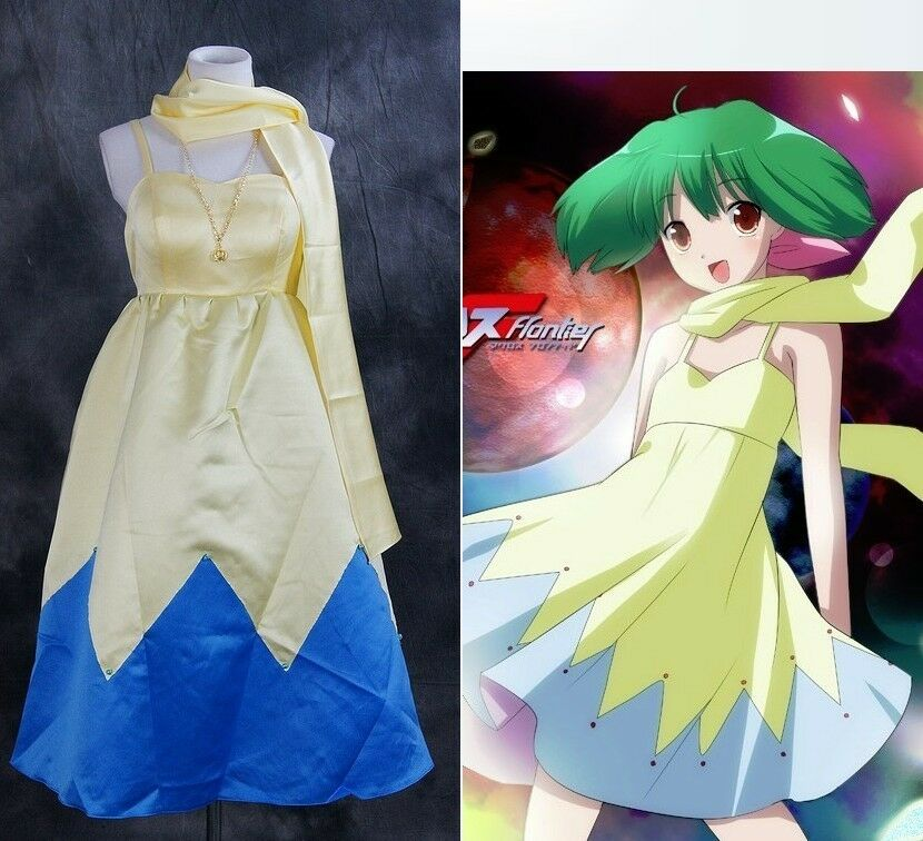 A-006 Gr. XL XL XL MACROSS RANKA LEE Cosplay Kostüm Freizeit Kleid gelb Kostüme dress   Verkauf Online-Shop  50f82e