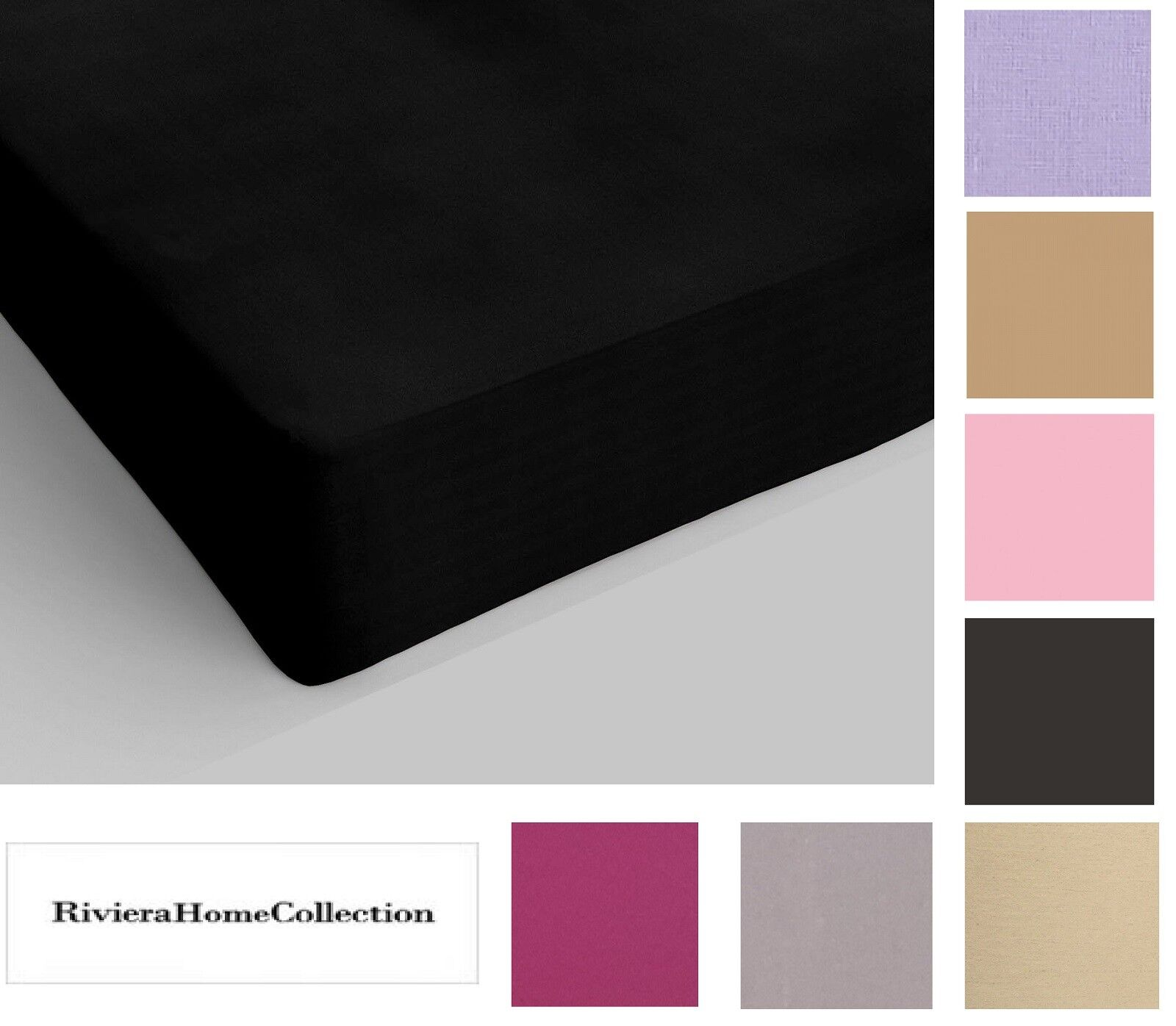 Riviera Home Collection Lenzuola.Riviera Stretched Fitted Sheet With Corners 100 Cotton Single 1 Square Ebay