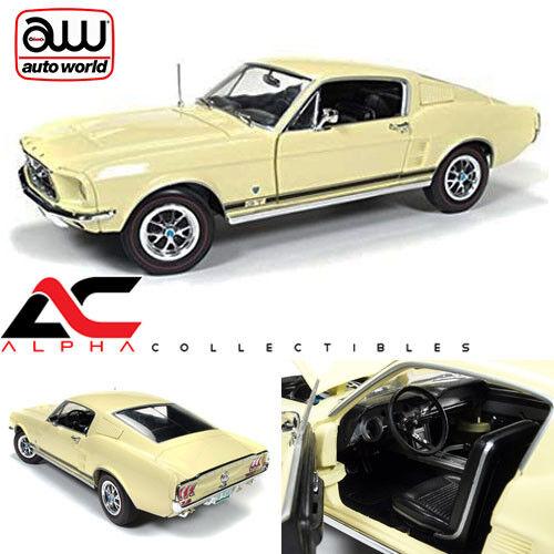 Autoworld AMM1038 1 18 1967  Ford Mustang 2+2 GT country special Aspen or 50TH  meilleure qualité meilleur prix