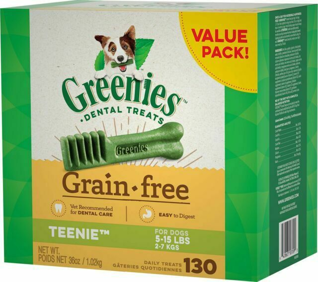 GREENIES Grain Free TEENIE Dog Dental Treats, 36oz - 130 Count