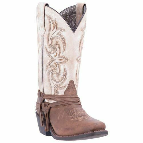 Laredo Women's Myra Western Cowboy Leather Boots San White 51091