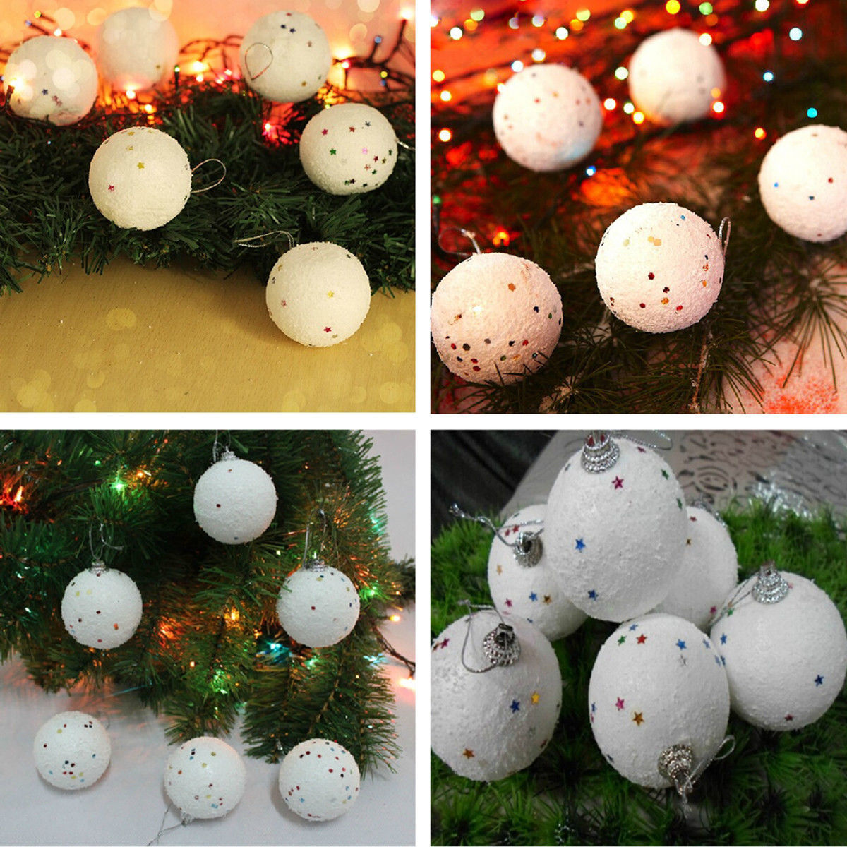 Hot 12x Fake snowballs for Christmas decorations or throwings and display HPTH